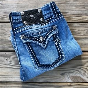 Miss Me Easy Boot Distressed Jeans
